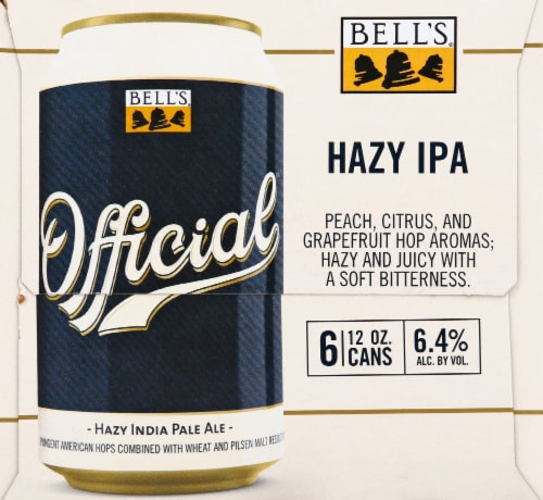 Bell's Brewery Official Hazy IPA Perspective: left