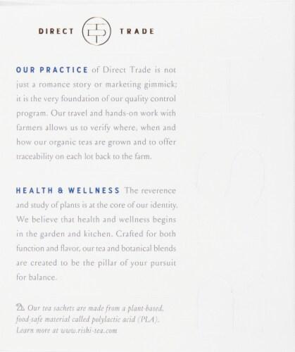 Rishi Tea Blueberry Hibiscus Organic Botanical Blend Tea Sachets Perspective: left