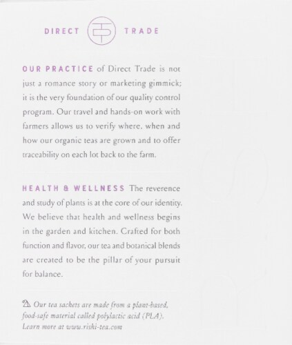 Rishi Organic Valerian Dream Tea Sachets Perspective: left
