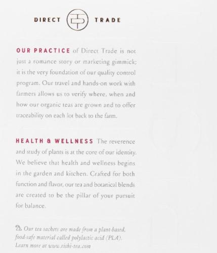 Rishi Tea Elderberry Healer Sachets Perspective: left