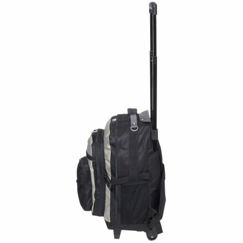 Everest Deluxe Wheeled Backpack - Khaki/Black Perspective: left