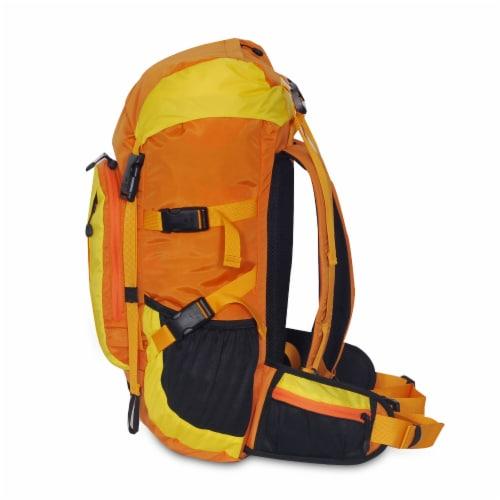 Everest Weekender Hiking Backpack - Orange/Yellow Perspective: left