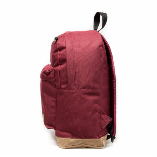 Everest Suede Bottom Backpack - Burgundy Perspective: left
