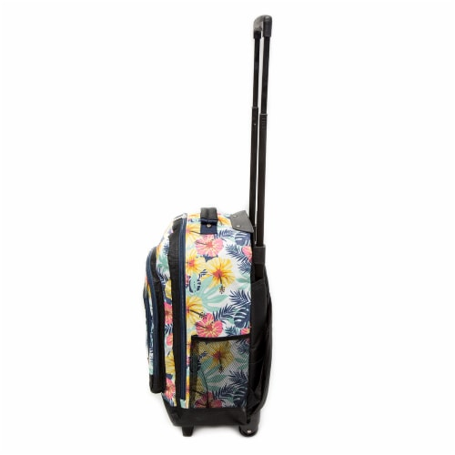 Everest Tropical Pattern Medium Wheeled Backpack Perspective: left