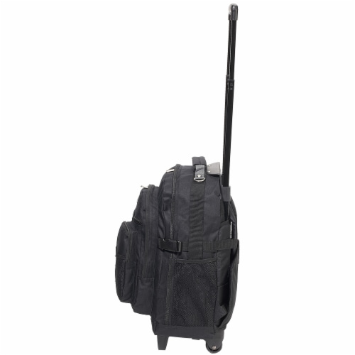 Everest Deluxe Wheeled Backpack - Black Perspective: left