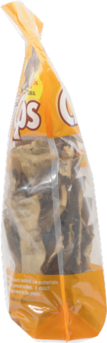 The Rawhide Express Beefhide Peanut Butter Flavor Chew Chips Perspective: left