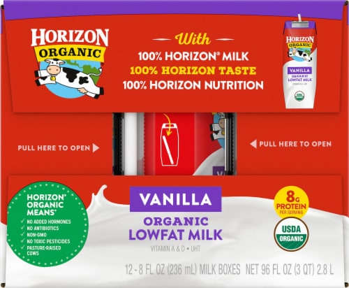 Horizon Organic Lowfat Vanilla Milk Perspective: left