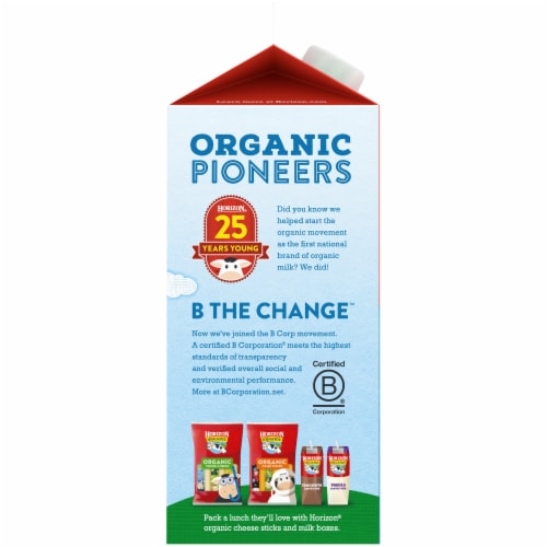 Horizon Organic 2% Reduced Fat Milk Perspective: left