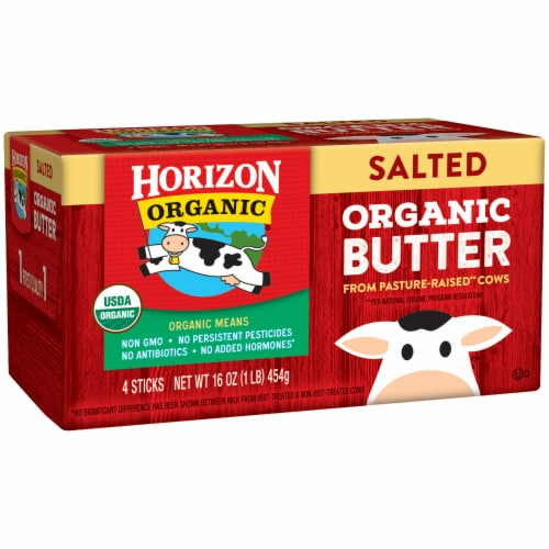Horizon Organic Salted Butter 4 Count Perspective: left