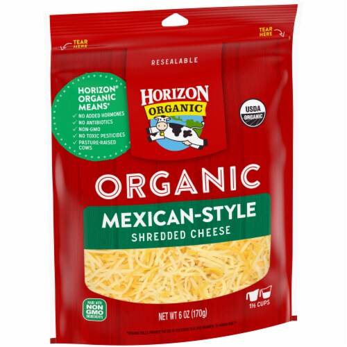 Horizon Organic Mexican Shredded Cheese Perspective: left