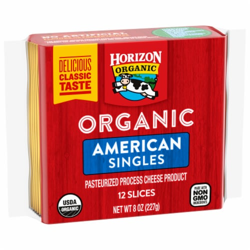 Horizon Organic American Cheese Singles Perspective: left