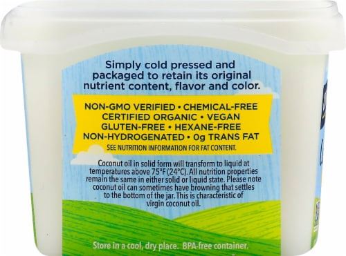 Carrington Farms Organic Virgin Coconut Oil Perspective: left