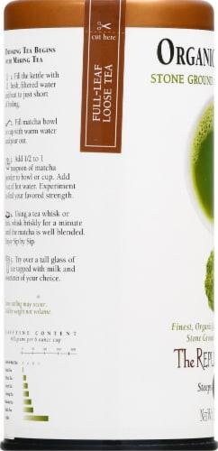 The Republic of Tea Matcha Stone Ground Green Tea Powder Perspective: left