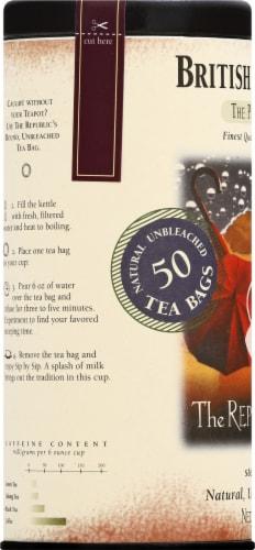 The Republic of Tea British Breakfast Tea Bags Perspective: left