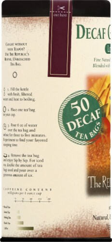 The Republic of Tea Ginger Peach Decaf Tea Bags Perspective: left