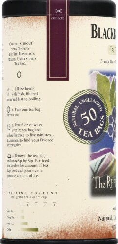 The Republic of Tea Blackberry Sage Unbleached Tea Bags Perspective: left