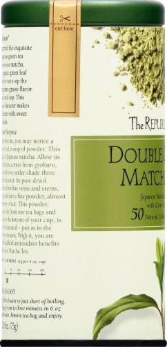 The Republic of Tea Double Green Matcha Tea Bags Perspective: left