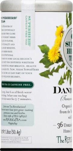 The Republic of Tea Dandelion Super Herb Tea Bags Perspective: left