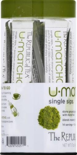 The Republic of Tea U-Matcha Single Sips Perspective: left