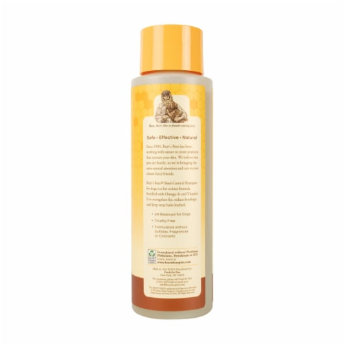 Burt's Bees Omega-3 & Vitamin E Shed Control Shampoo for Dogs Perspective: left