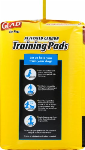 Glad Activated Charcoal Training Pads Perspective: left