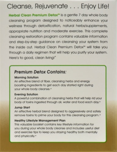 Herbal Clean Premium Detox 7 Day Cleansing Program Perspective: left