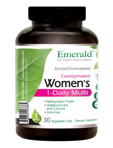 Emerald 1-Daily Women's Multivitamin Vegetable Caps Perspective: left