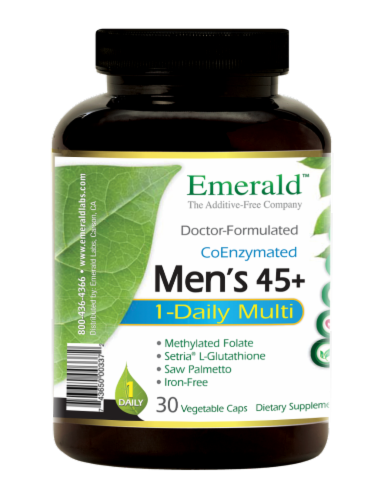 Emerald 1-Daily Men's 45+ Multivitamin Vegetable Caps Perspective: left