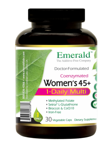 Emerald 1-Daily Women's 45+ Multivitamin Vegetable Caps Perspective: left