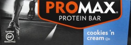 Promax Cookies & Cream Bars Perspective: left