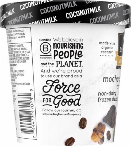 SO Delicious Dairy Free Mocha Almond Fudge Coconutmilk Frozen Dessert Perspective: left