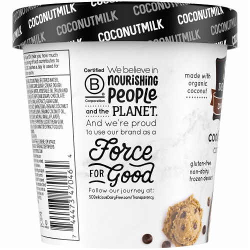 SO Delicious Cookie Dough Coconutmilk Non-Dairy Frozen Dessert Perspective: left