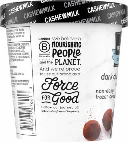 SO Delicious Dairy Free Dark Chocolate Truffle Cashewmilk Frozen Dessert Perspective: left