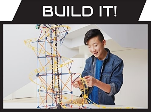 K'NEX Thrill Rides - Panther Attack Roller Coaster Building Set with Ride It! App - 690 Piece Perspective: left