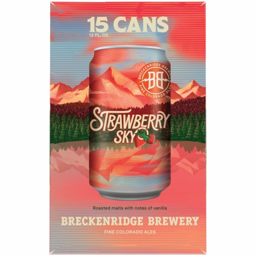 Breckenridge Brewery Strawberry Sky Kolsch Style Ale Beer Perspective: left
