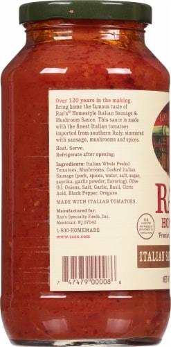 Rao's Homestyle Italian Sausage & Mushroom Sauce Perspective: left