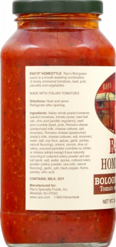 Rao's Homestyle Bolognese Sauce Perspective: left