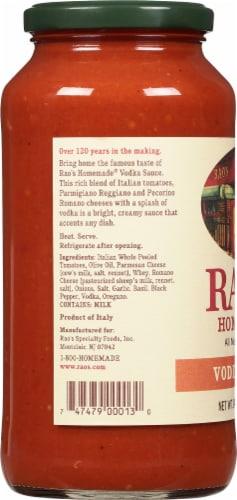 Rao's Homemade Vodka Sauce Perspective: left