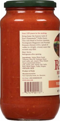Rao's Vodka Pasta Sauce Perspective: left