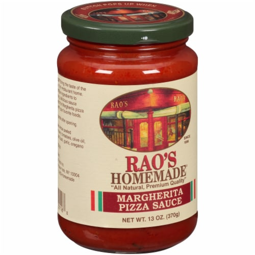 Rao's Homemade Margherita Pizza Sauce Perspective: left
