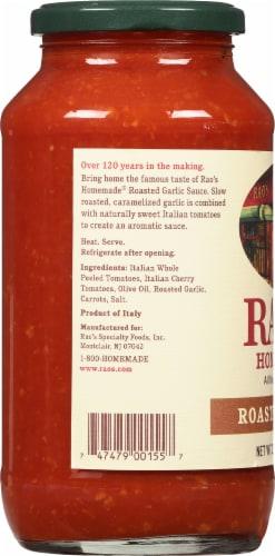 Rao's Homemade Roasted Garlic Sauce Perspective: left
