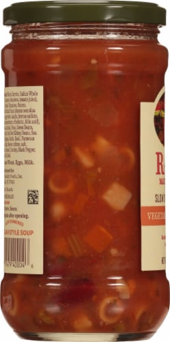 Rao's Vegetable Italian Style Slow Simmered Minestrone Soup Perspective: left