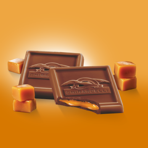Ghirardelli Milk Chocolate Caramel Squares Perspective: left