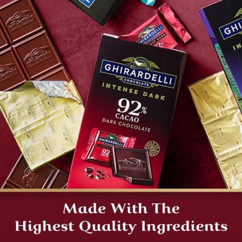 Ghirardelli Intense Dark 92% Cacao Dark Chocolate Squares Perspective: left