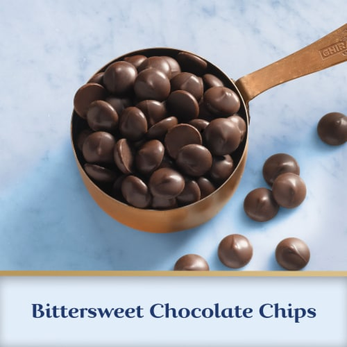 Ghirardelli 60% Cacao Bittersweet Chocolate Premium Baking Chips Perspective: left