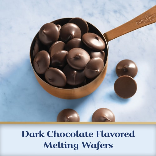 Ghirardelli Dark Chocolate Melting Wafers Perspective: left