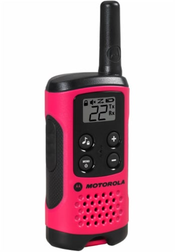 Motorola Solutions Talkabout T107 Two Way Radios - Pink/Black Perspective: left