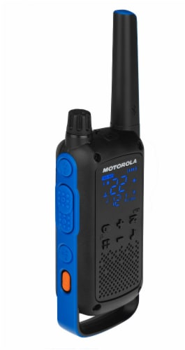 Motorola Solutions Talkabout T800 Two-Way Radios - Black/Blue Perspective: left