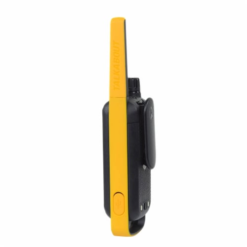 Motorola Solutions Talkabout T475 Two-Way Radios - Black/Yellow Perspective: left