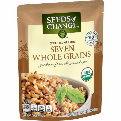 Seeds of Change Organic Seven Whole Grains Rice Perspective: left